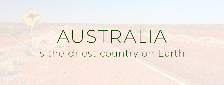 Australia is the driest country on Earth.