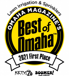 Best of Omaha 2021 - 1st Place Award - Lawn Irrigation & Sprinklers - Black